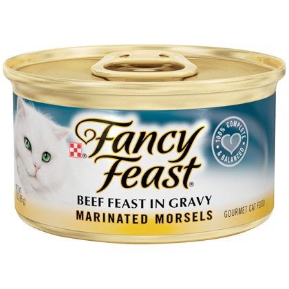 Fancy Feast Marinated Morsels Beef Feast in Gravy 24/3oz