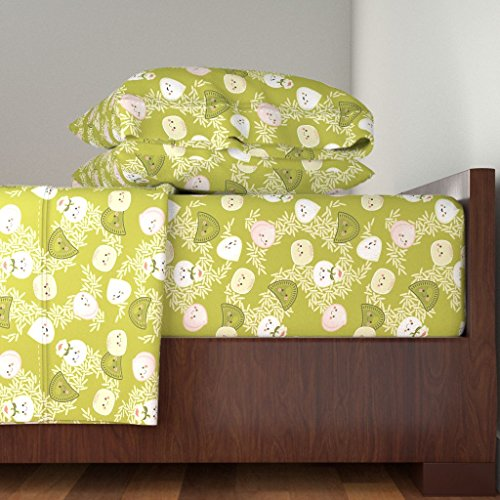 Roostery Dim Sum 3pc Sheet Set Dim Sum Dragon Dance by Hootenannit Twin Sheet Set made with by Roostery