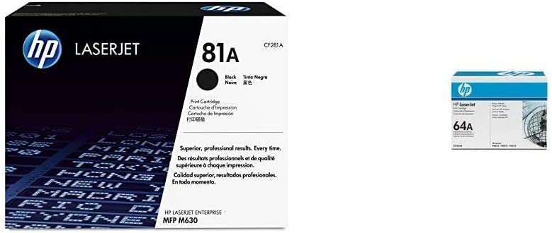 HP 81A | CF281A | Toner Cartridge | Black & 64A | CC364A | Toner Cartridge | Black