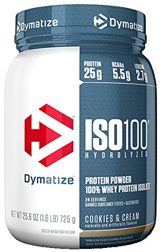 Cheap Dymatize ISO 100 Whey Protein Powder Isolate, Cookies and Cream, 1.6 lbs