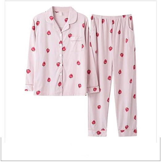 GJ Pijamas, Primavera y otoño algodón de Las señoras Pijama, Color ...