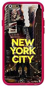 La Kase Collection–Carcasa para Apple iPhone 6/6S, color rosa brillante, revestimiento de silicona Ciudad de Nueva York II [Amarillo] by Javier Martinez Talla única Color Rosa