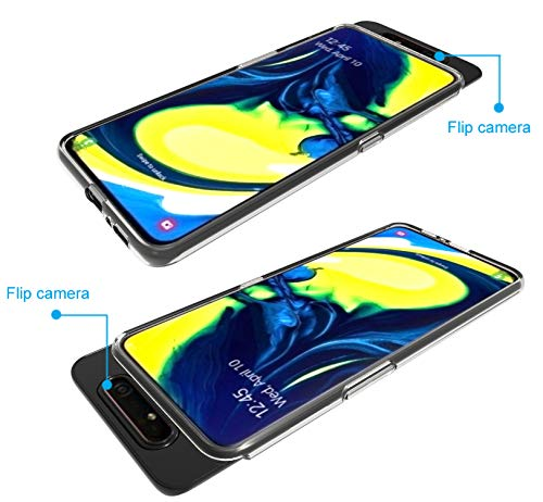 AILRINNI Case for Samsung A80, Clear Crystal Silicone Samsung A80 Phone Case, Premium Soft Gel Shockproof Bumper Protective Case Cover for Samsung Galaxy A80 - Clear