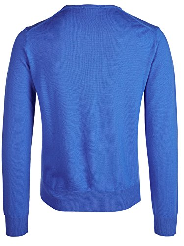Versace Collection Medium Blue V-neck Wool Sweater (S) by Versace (Image #1)'