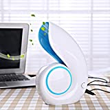 Leegor Cute Snails Portable USB Mini Fan Low Noise Laptop Cooler Air Conditioner (Blue)