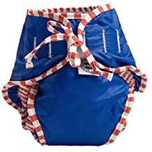 Kushies Baby Unisex Swim Diaper - X-Large,Blue Solid,X-Large,