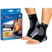 Dr. Anison Ankle Brace for Men Women Foot Pain Relief Heel Pain Treatment with Arch Support Sock Soothers ( Black)