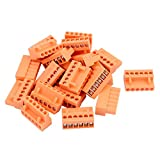 uxcell 20Pcs 300V HT3.96K 3.96mm Pitch 6P PCB Screw Terminal Block Connector Orange