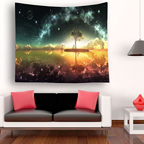 MariamMcKinley Home Square Beach towel printing Starry sky