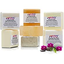 Pifito Premium Melt and Pour Soap Base Sampler - Assortment of 7 Bases (1lb ea); Clear, White, Goats Milk, Shea Butter, Oatmeal, Honey, Olive Oil - Total 7 lbs of Glycerin Hand Soap Making Supplies