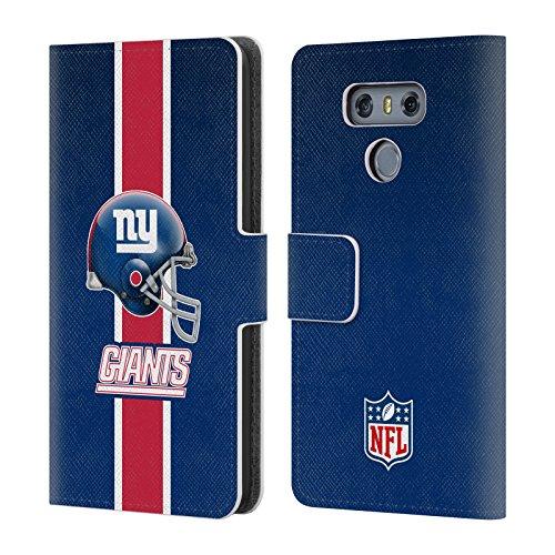 Official NFL Helmet New York Giants Logo Leather Book Wallet Case Cover for LG G6 / G6 ()