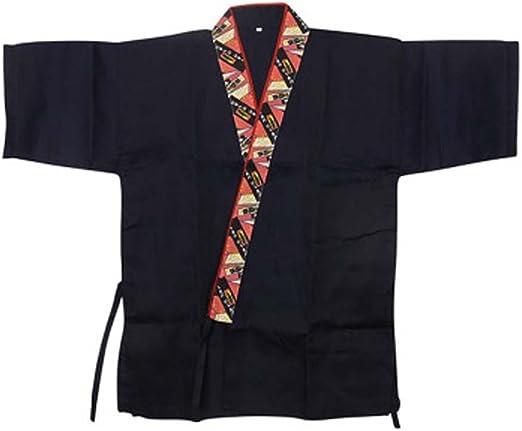 Chaqueta japonesa del jefe de la cocina del sushi del cocinero de los uniformes del trabajo de la manga para el unisex, 01: Amazon.es: Hogar