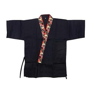 Chaqueta japonesa del jefe de la cocina del sushi del cocinero de los uniformes del trabajo de la manga para el unisex, # 01: Amazon.es: Hogar