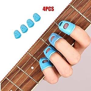 xidang 4pcs guitar fingertip protectors silicone finger guards for ukulele electric. Black Bedroom Furniture Sets. Home Design Ideas