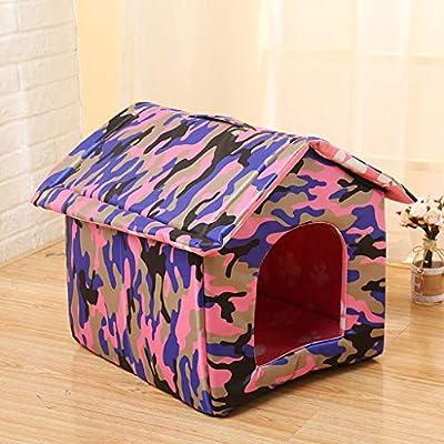 Lonshi Casa para Mascotas Casa para Perros Casa para Gatos Casa para Mascotas al Aire Libre Casa para Mascotas Limpieza Plegable