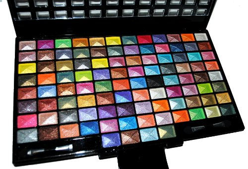 Elegant 100 Piece Glitter Eyeshadow Makeup kit in Black Palette
