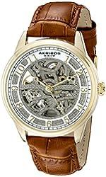 Akribos XXIV Men's AK807YG Analog Display Automatic Self Wind Brown Watch