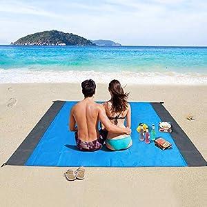 Coperta da Spiaggia, laxikoo Coperta da Picnic Anti Sabbia 210x200 Portatile Impermeabile Coperta Tascabile con Reticule… 15 spesavip