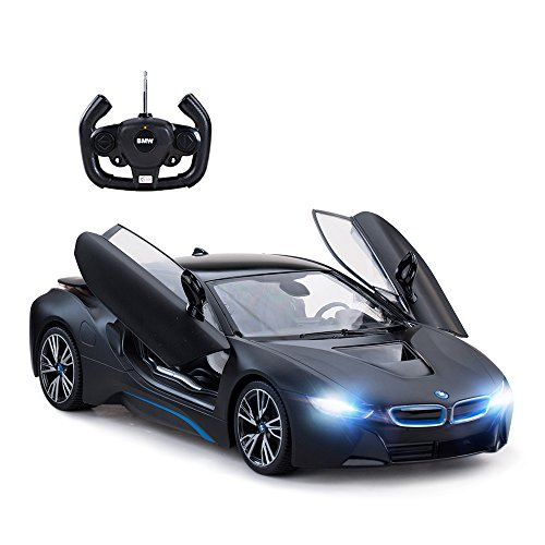 rastar Remote Control Car, 1:14 i8 Radio Remote Control Racing RC Toy Car Model Vehicle, Open Doors by RC, MattBlack from rastar