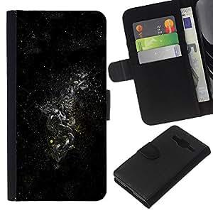 Stuss Case / Funda Carcasa PU de Cuero - Oscuro Galaxy Espacio - Samsung Galaxy Core Prime
