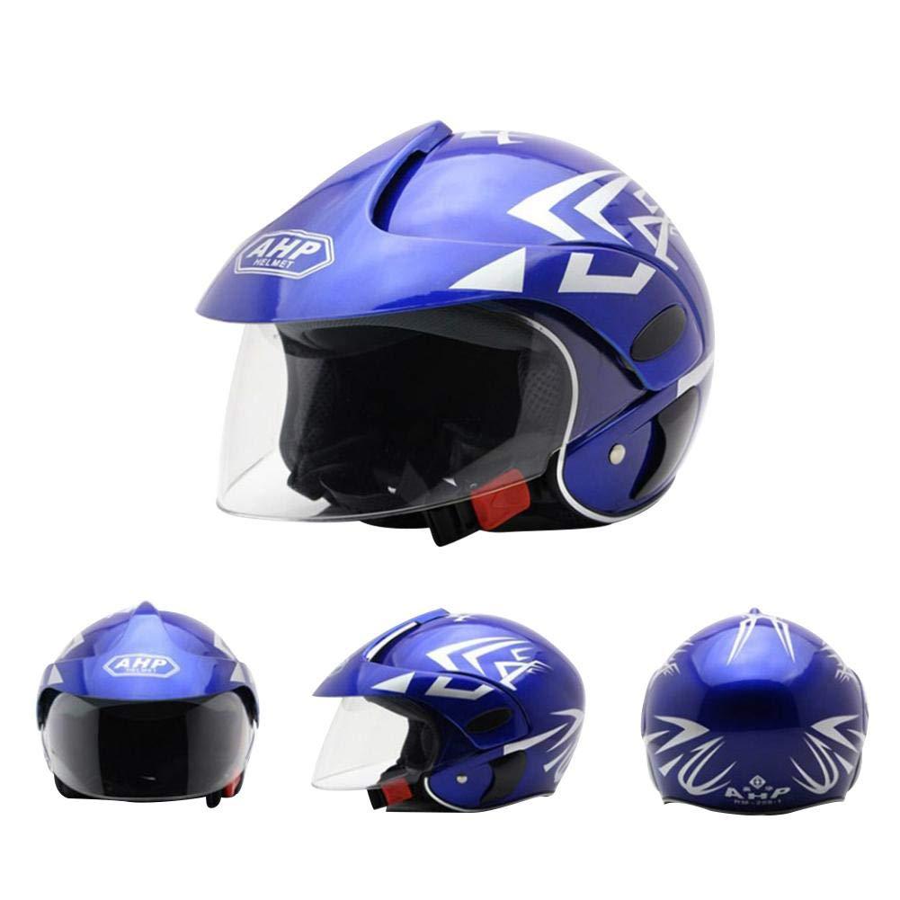 rosemaryrose Casco De Moto para Ni/ños Casco Moto Electrica para Ni/ños para Halley Medio Casco Seguridad Oto/ño E Invierno Casco Ni/ños