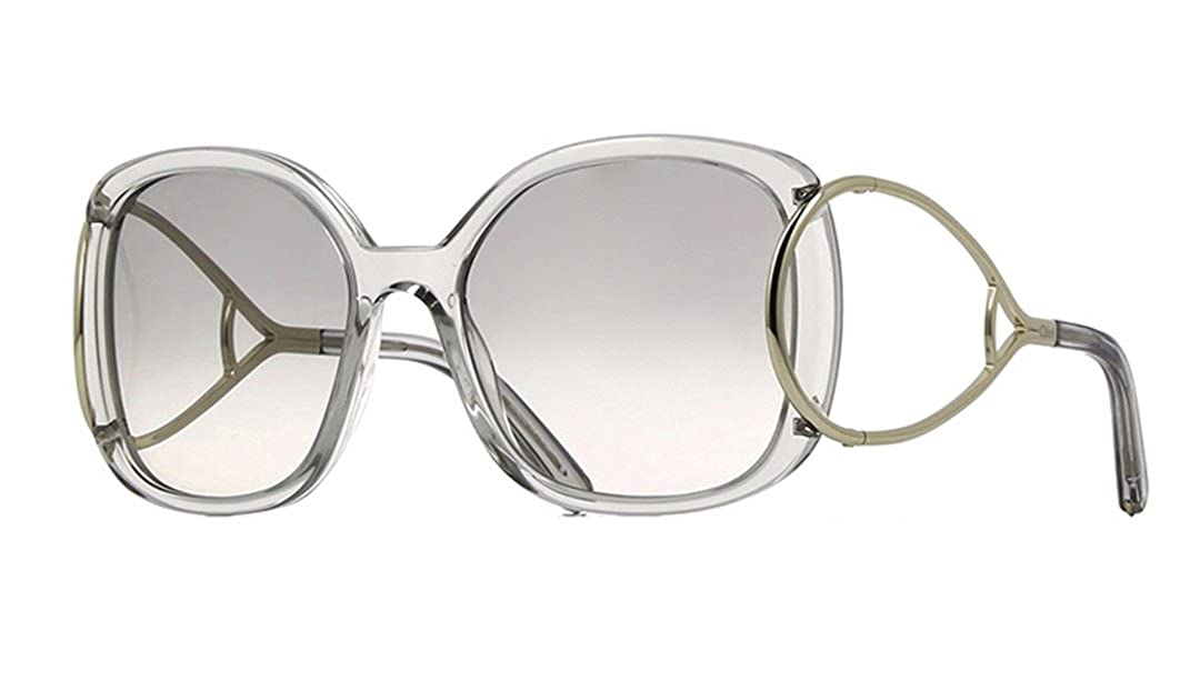 2af9fcc0849 Chloe Jackson Square Racket Temple Sunglasses in Peach CE702 S 749 56   Amazon.co.uk  Clothing