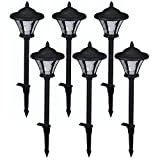Low-Voltage LED Black Metal Coach Path Light (6-Pack)