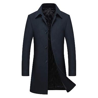 527c574883ce Manteau Homme Parka Veste Trench Coat Long  Amazon.fr  Vêtements et ...