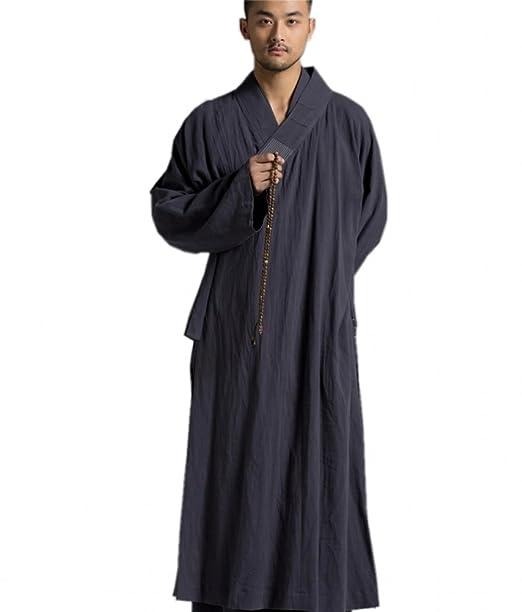 Katuo - Túnica budista tradicional para hombre, tamaño largo ...
