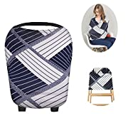 Breastfeeding Nursing Cover Scarf - Baby Car Seat Canopy Shopping Cart, Stroller for Infant Stretchy Infinity Baby Nursing Shawl Wrap Children's Day Gifts