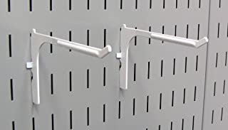 product image for Wall Control Pegboard 6in Reach Extended Slotted Hook Pair - Slotted Metal Pegboard Hooks for Wall Control Pegboard and Slotted Tool Board – White