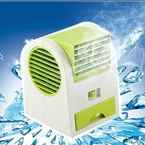 Greenery Portable Office Home Outdoor Travel Use Drawer Style Perfumes Smell Desktop Bladeless Mini Fan Air Conditioner Dual-use USB/Battery Powered Summer Cooling Fan Aroma Diffuser Blue by BXT (Image #4)