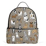 Cheap Sunlome Cute Dog Puppy Pattern Laptop Backpack Casual Shoulder Daypack for Student School Bag Handbag – Lightweight
