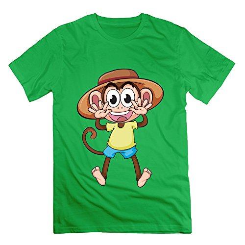ajlna-mens-holiday-monkey-t-shirt-small-forestgreen