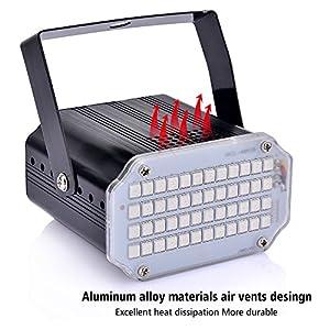 51CmXGr37VL. SS300  - Disco-Lichteffekt-AUSHEN-48-LED-Stroboskop-licht-party-licht-mit-Fernbedienung-Sprachaktiviertes-RGB-LED-Strobe-Lampe-fr-Christmas-Disco-DJ-Party  Disco-Lichteffekt-AUSHEN-48-LED-Stroboskop-licht-party-licht-mit-Fernbedienung-Sprachaktiviertes-RGB-LED-Strobe-Lampe-fr-Christmas-Disco-DJ-Party 51CmXGr37VL