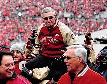 best service a4525 08013 Jim Tressel autographed 8x10 Photo (Ohio State Buckeyes NCAA ...
