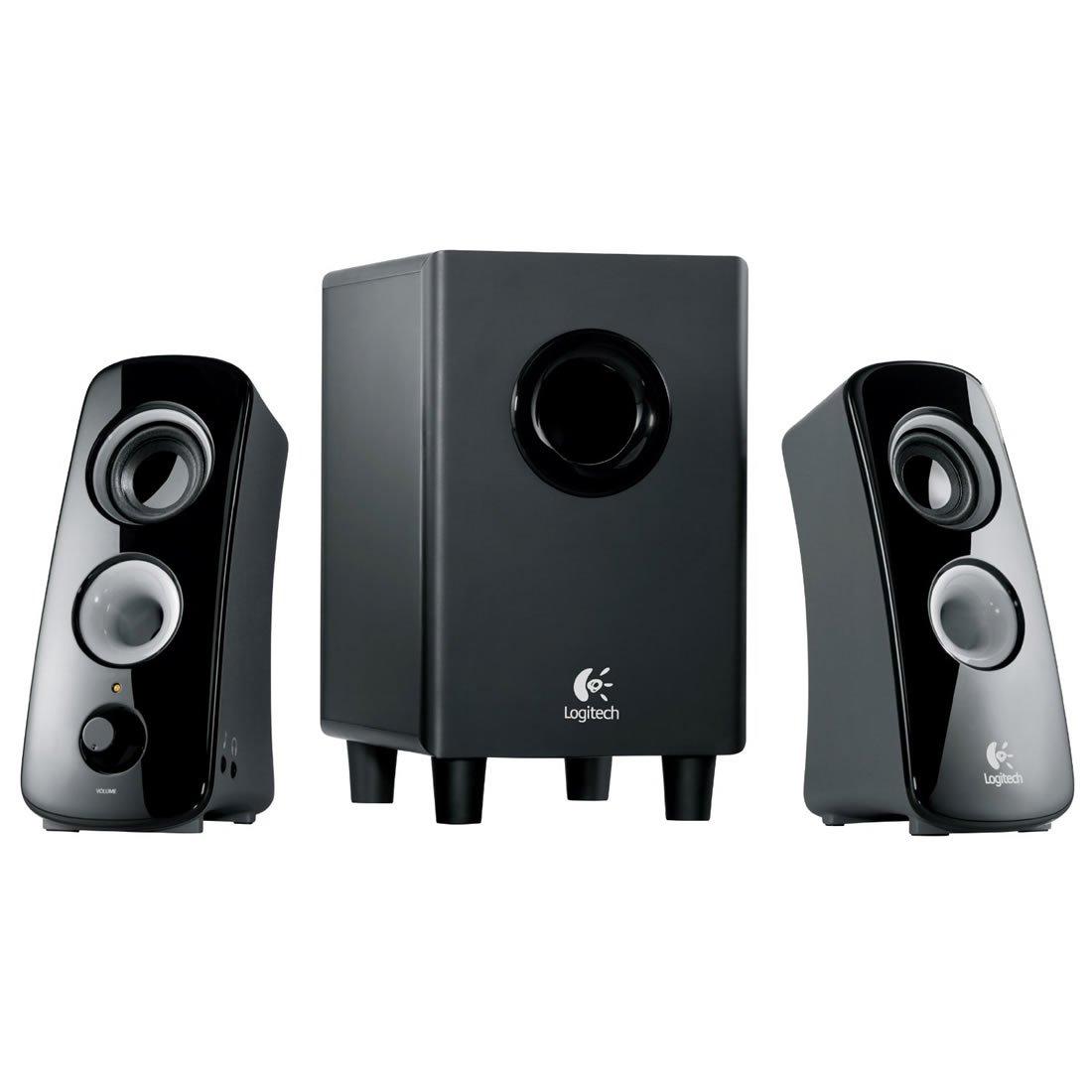 Amazon.com: Logitech Z323 3 Piece 2.1 Channel Computer Multimedia Speaker  System - Black: Computers & Accessories