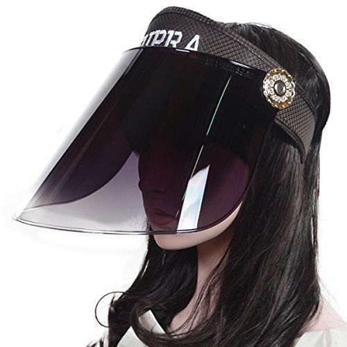 (Women Summer Sunhat Solar Face Shield Cap Visor Sun Cover Hat Anti-UV Cap)