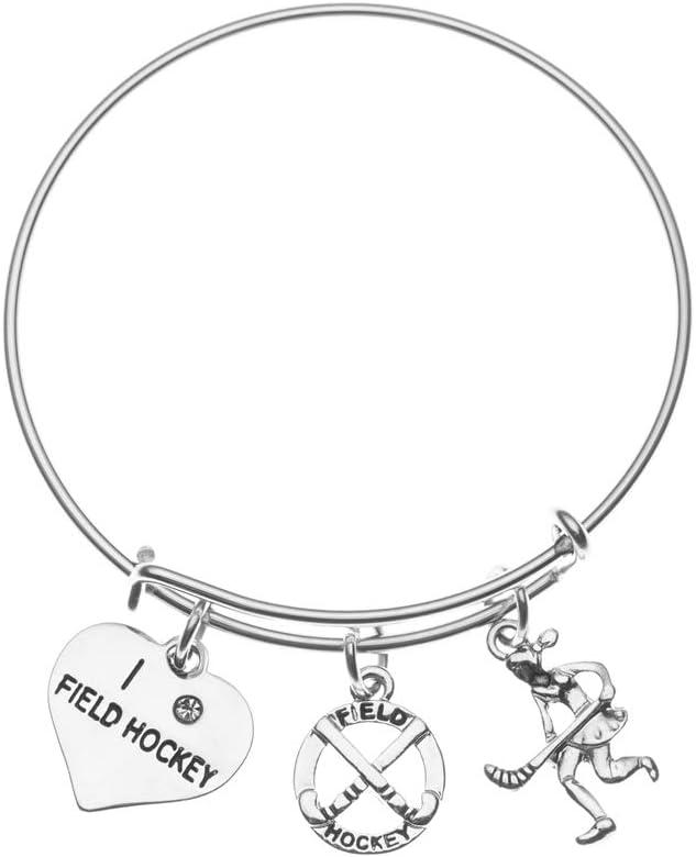 Sportybella Field Hockey Charm Bracelet for Field Hockey Players Teams /& Coaches Field Hockey Jewelry Gifts