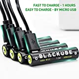Blackube AAA 600mAh/900mWh Rechargeable Lithium