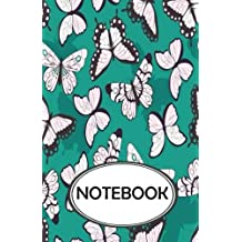 "Notebook: Dot-Grid,Graph,Lined,Blank No Lined : Black White Butterflies : Small Pocket Notebook Journal Diary, 110 pages, 5.5"" x 8.5"" (Blank Notebook Journal)"