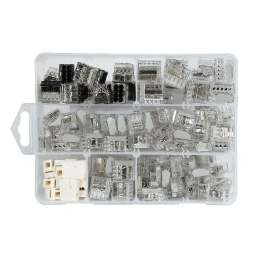 ViD Steckklemmen I Verbindungsklemme Transparent-Sortiment 1 - 2, 5 mm² 145 Stück 5 mm² 145 Stück ViolaDirekt GmbH