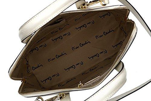 c31eb90f24687 ... Tasche damen mit schultergurt PIERRE CARDIN taupe leder Made in Italy  VN1314