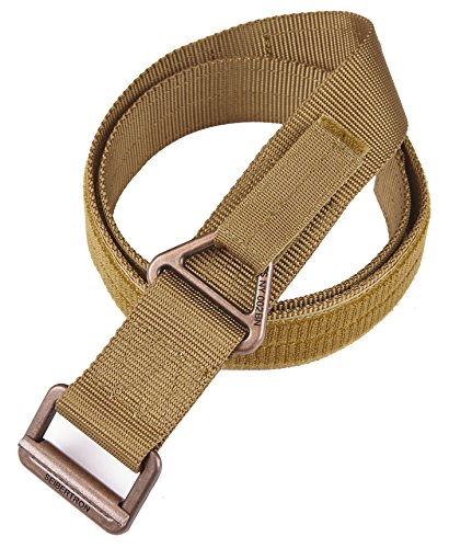 Seibertron Men's Utility TDU 1.75-Inch Nylon Tactical CQB/Rigger's Military Combat Duty Belt Metal Buckle 3 Years Warranty Fit waistline 30