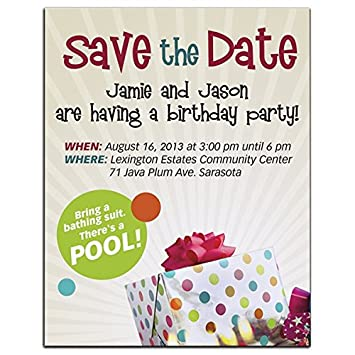 Amazon Promotional BIC Save The Date Birthday Party Invitation