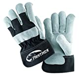 Galeton 2134-XL Panther Select Leather Palm Gloves, Safety Cuff, X-Large, Black/Gray (Pack of 12)