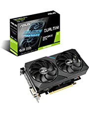 ASUS Dual GeForce GTX 1660 SUPER MINI Gaming Graphics Card (PCIe 3.0, 6GB GDDR6 memory, HDMI, DisplayPort, DVI-D, for Intel NUC 9 Extreme Kit, Intel NUC 9 Pro Kit, and small chassis)