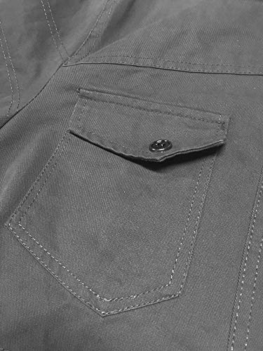 TACVASEN Men's Lightweight Military Cotton Jacket Outdoor Cargo Jackets with Multi Pockets