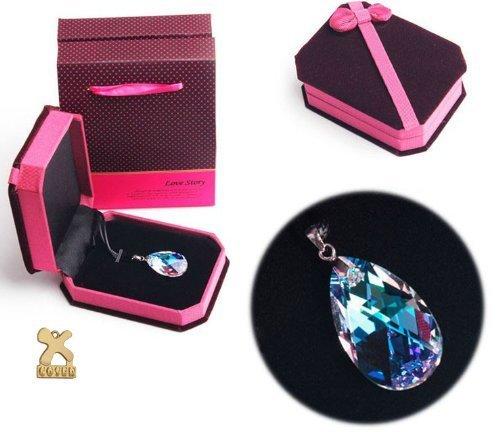 [Sword Art Online Asuna Costume Cosplay Heart of Yui Swarovski Crystal Necklace Cosplay_Rim] (Hearts Costumes Shoe)