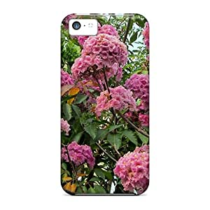 Durable Case For The Iphone 5c- Eco-friendly Retail Packaging(rosy Trumpet Tree)